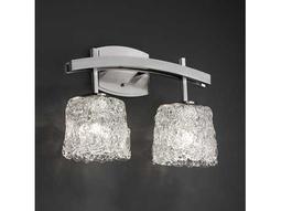 Justice Design Group Veneto Luce Archway Venetian Glass Two-Light Bath Bar Light