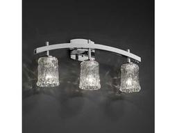 Justice Design Group Veneto Luce Archway Venetian Glass Three-Light Bath Bar Light
