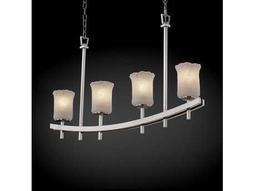 Justice Design Group Veneto Luce Archway Venetian Glass Four-Light Bar Chandelier