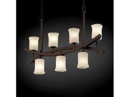 Justice Design Group Veneto Luce Archway Venetian Glass Seven-Light 6'' Wide Crossbar Chandelier