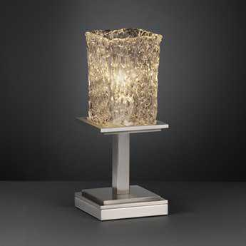 Justice Design Group Veneto Luce Montana Short Venetian Glass Table Lamp
