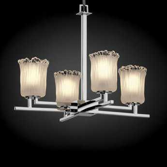 Justice Design Group Veneto Luce Aero Venetian Glass Four-Light Mini Chandelier