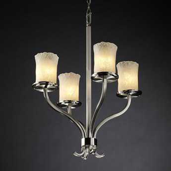 Justice Design Group Veneto Luce Sonoma Venetian Glass Four-Light Chandelier