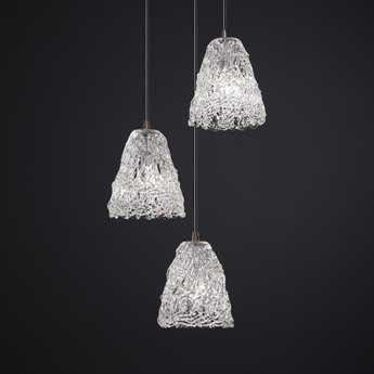 Justice Design Group Veneto Luce Venetian Glass Three-Light Cluster Mini-Pendant