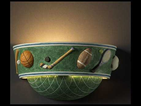 Justice Design Group Kids Room Sports Ceramic Wall Sconce