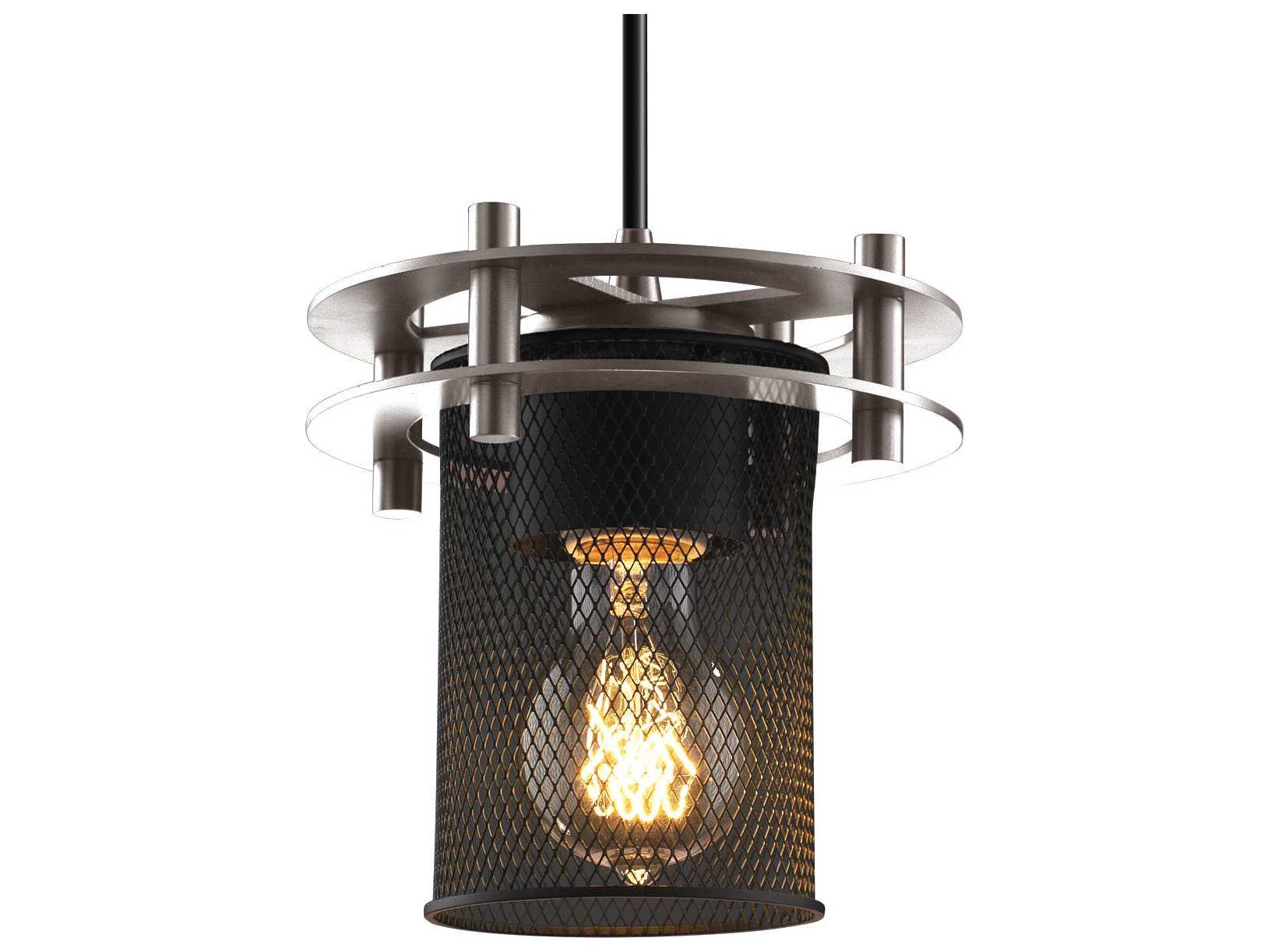 Justice Design Group Wire Mesh Circa 1-Light Small Pendant | JDMSH8265