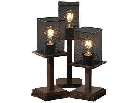 Justice Design Group Wire Mesh Montana 3-Light Table Lamp