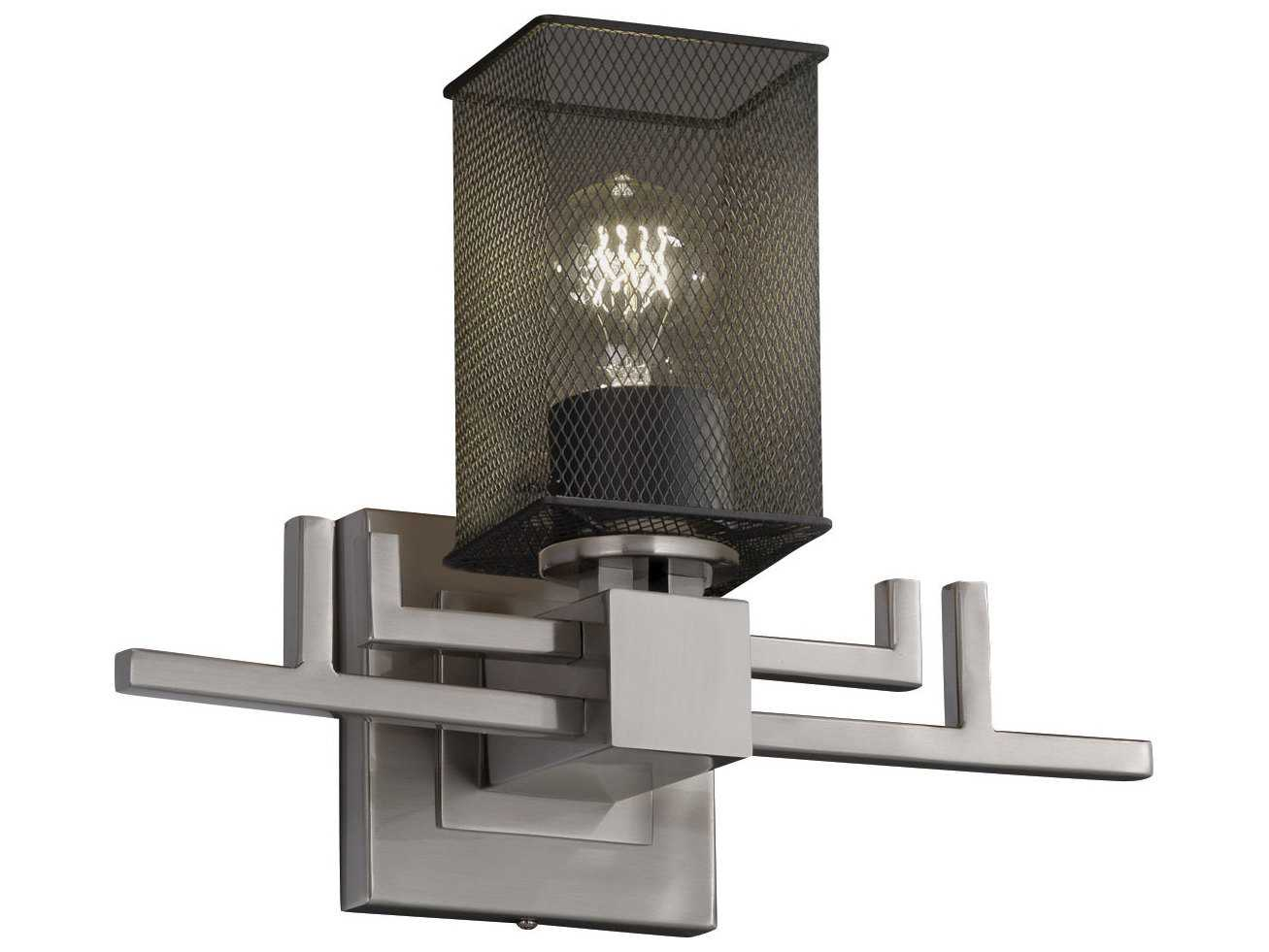 Justice Design Group Wire Mesh Aero 1-Light Wall Sconce | JDMSH8701
