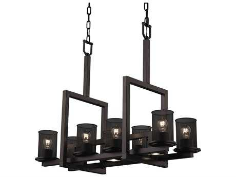 Justice Design Group Wire Mesh 3-Light Cluster Pendant | MSH-8818