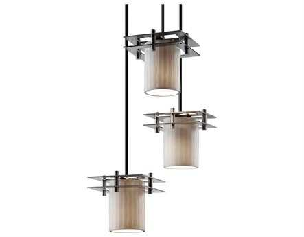 Justice Design Group Limoges Metropolis Translucent Porcelain Three-Light Cluster Mini-Pendant