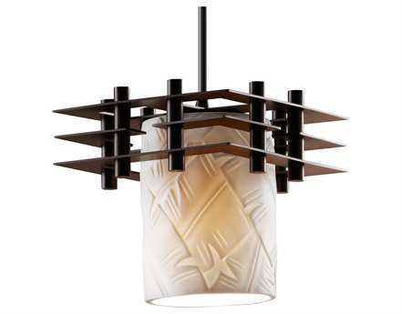 Justice Design Group Limoges Metropolis Translucent Porcelain Mini-Pendant