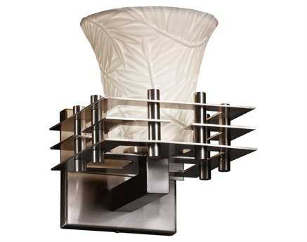 Justice Design Group Limoges Metropolis Translucent Porcelain Wall Sconce