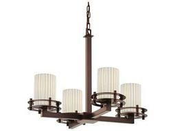 Justice Design Group Limoges Circa 4-Light Chandelier- Uplight
