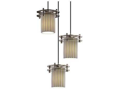 Justice Design Group Limoges Circa 3-Light Small Pendant