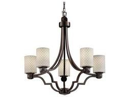 Justice Design Group Limoges Argyle Translucent Porcelain Five-Light Chandelier