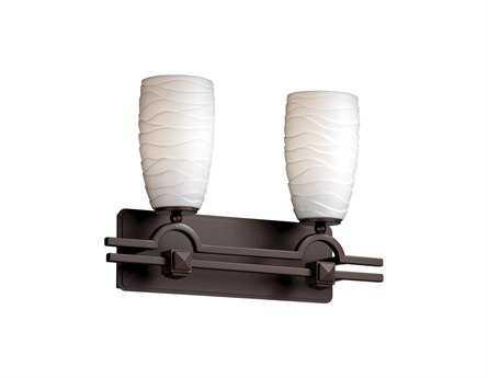 Justice Design Group Limoges Argyle Translucent Porcelain Two-Light Bath Bar Light