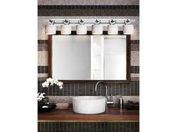 Justice Design Group Limoges Argyle Translucent Porcelain Six-Light Bath Bar Light