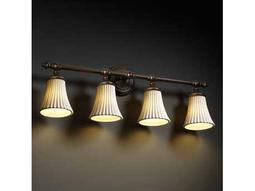 Justice Design Group Limoges Tradition Translucent Porcelain Four-Light Bath Bar Light