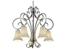Justice Design Group Limoges Victoria Translucent Porcelain Five-Light Chandelier