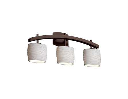 Justice Design Group Limoges Archway Translucent Porcelain Three-Light Bath Bar Light