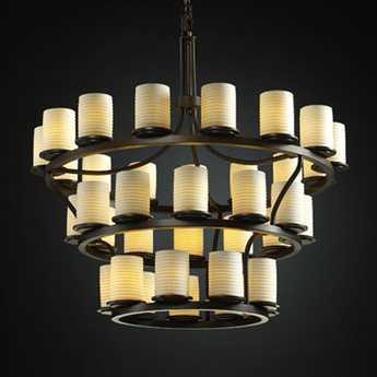 Justice Design Group Limoges Dakota Translucent Porcelain 36-Light Ring Chandelier