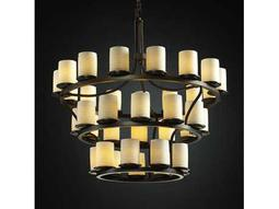 Justice Design Group Limoges Dakota Translucent Porcelain 36-Light Ring Chandelier