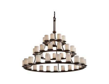 Justice Design Group Limoges Dakota Translucent Porcelain 45-Light Ring 60'' Wide Chandelier