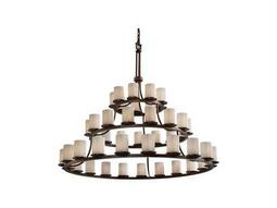 Justice Design Group Limoges Dakota Translucent Porcelain 45-Light Ring Grand Chandelier