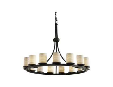 Justice Design Group Limoges Dakota Translucent Porcelain 15-Light Ring Chandelier