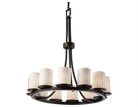 Justice Design Group Limoges Dakota Translucent Porcelain 12-Light Ring Chandelier