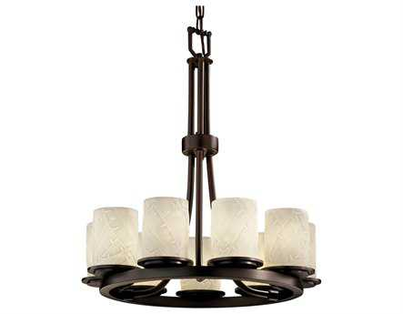 Justice Design Group Limoges Dakota Translucent Porcelain Nine-Light Ring Chandelier