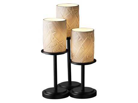 Justice Design Group Limoges Dakota Translucent Porcelain Three-Light Table Lamp