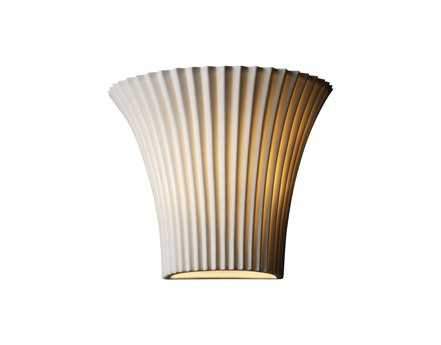 Justice Design Group Limoges Small Round Translucent Porcelain Flared Wall Sconce