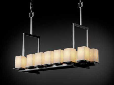 Justice Design Group Wire Glass Montana 14-Light Bridge Chandelier
