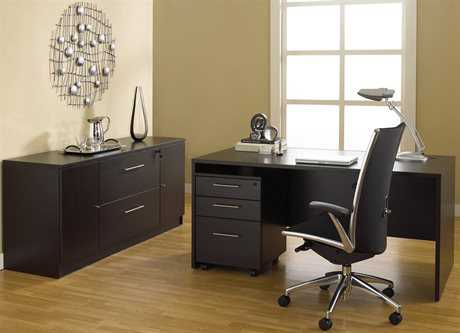 Unique Furniture 100 Series Espresso Office Set