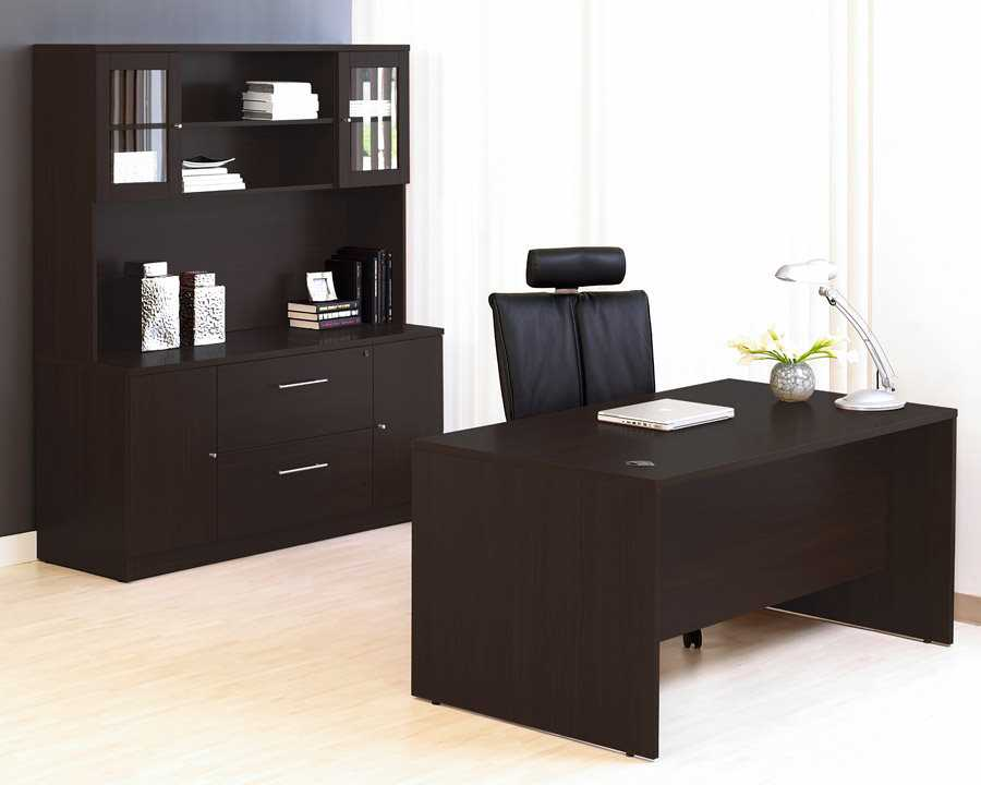Unique Furniture 100 Series Espresso Office Desk