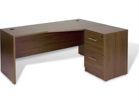 Unique Furniture 100 Collection 63'' x 51'' Walnut L-Shaped Desk