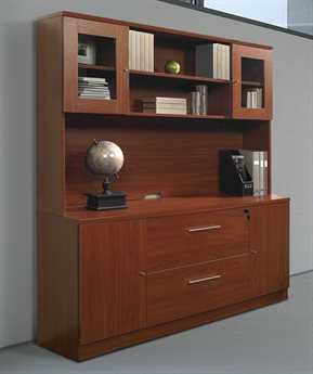 Unique Furniture 100 Collection Cherry Credenza & Hutch