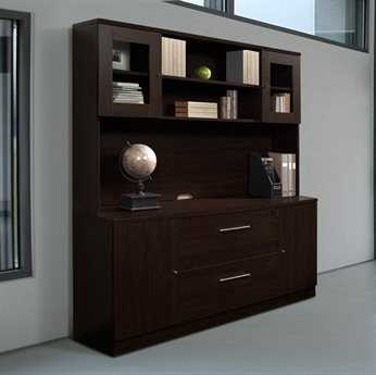 Unique Furniture 100 Series Espresso Credenza & Hutch