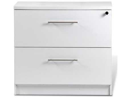 Unique Furniture 100 Series White Two Drawer 32'' x 20'' Lateral File Cabinet