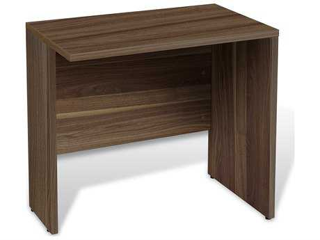 Unique Furniture 100 Series 32'' x 20'' Rectangular Walnut Narrow Desk Return