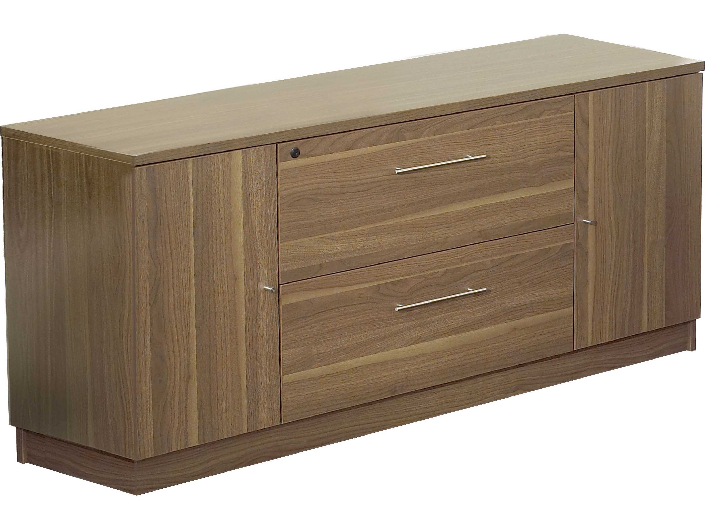 Unique Furniture 100 Series Walnut Credenza File Cabinet