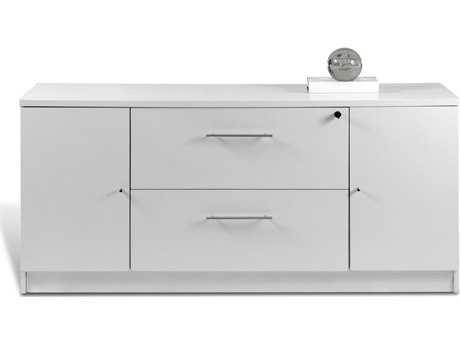 Unique Furniture 100 Series White 63'' x 20'' Storage Credenza