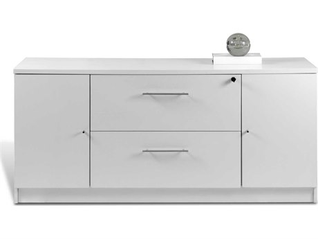 Unique Furniture 100 Series White 63'' x 20'' Storage Credenza