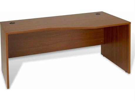 Unique Furniture 100 Collection 63'' x 32'' Cherry Right Crescent Computer Desk
