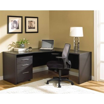 Unique Furniture 100 Series Espresso L-Shape 63'' x 63'' Computer Desk