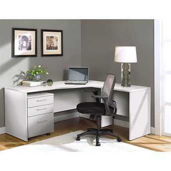 Unique Furniture 100 Series White L-Shape 63'' x 63'' Computer Desk