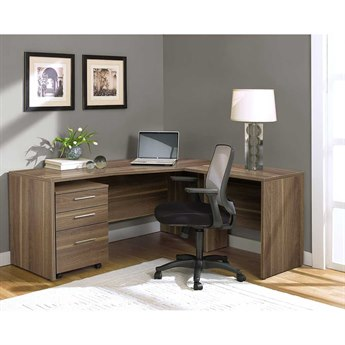Unique Furniture 100 Series Walnut L-Shape 63'' x 63'' Computer Desk