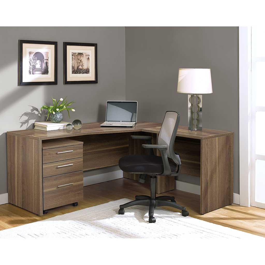 Unique Furniture 100 Series Walnut Mobile Pedestal File