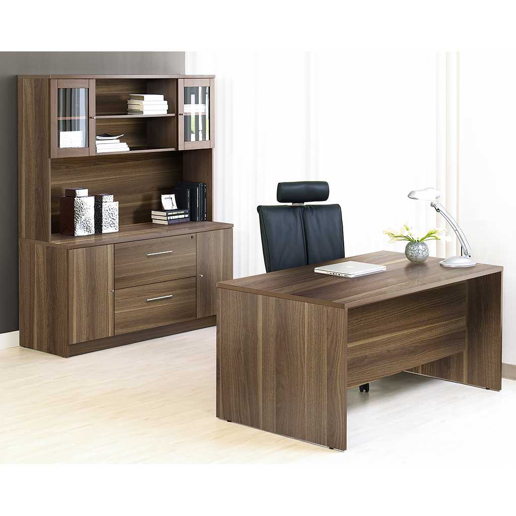 Unique Furniture 100 Series Walnut Executive Office Desk